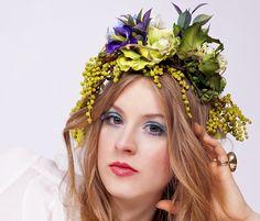 Korona z kwiatów - FloralConceptStore - Kwiaty do włosów