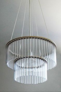 A chandelier made out of test tubes! Qorpak can help you re-create this decor - check out our selection of Bulk Test Tubes! http://www.qorpak.com/store/catalog/Bulk-Test-Tubes,2081.htm