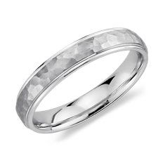 Hammered Wedding Ring in Platinum (4mm) Maybe, more adventurous