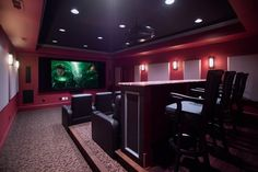 home movie theaters designs - Google Search