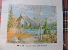 Mount Rundle In Autumn Vermillion Lake Alberta Canada Jean Needlepoint Patterns, Cross Stitch Patterns, Wool Thread, Costume Patterns, Alberta Canada, Cool Patterns, Beautiful Images, Unisex