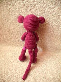 Háčkovaná opička na přání (30 cm) / Zboží prodejce Paaia | Fler.cz Opi, Tweety, Fictional Characters, Fantasy Characters