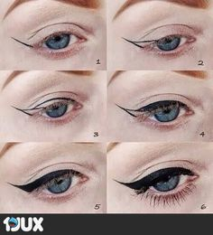 The most important part of the eye makeup is Eyeliner. It would not be wrong to say that eyeliner in fact complete the overall makeup looks. Diy Beauty Hacks, Beauty Hacks For Teens, Maquillage Pin Up, Cat Eye Makeup Tutorial, 1960s Makeup Tutorial, School Makeup Tutorial, Makeup Pictorial, Perfect Eyeliner, Perfect Makeup