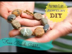 Faux Stone beads How To ~ Polymer Clay Tutorials