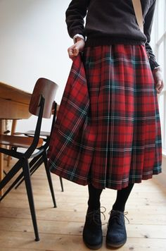 Tartan retro skirt