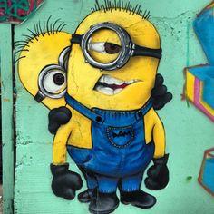 Street art. Minion Graffiti. #Minions #streetart #graffiti