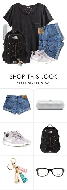 """""""The only sad thing about summer is not being able to see my friends everyday"""" by southernstruttin ❤ liked on Polyvore featuring H&M, Abercrombie & Fitch, NIKE, The North Face, Ray-Ban and Kendra Scott"""