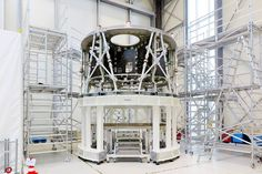 Orion's service module primary structure arrives in Bremen, Germany. The service module, developed by Airbus Defence and Space for the European Space Agency, will provide power and propulsion for Orion during its first flight in 2018.