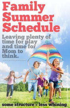 Family Summer Schedule #pullingcurls