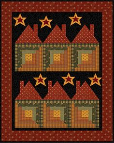 Log Cabin Houses Quilt ~ another great idea for my very talented daughter, Laura the quilter!!!
