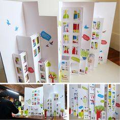 Paper Pop Up InteriorThis would be a good technique to introduce for a major project concerning the art of design. Diy And Crafts, Crafts For Kids, Paper Crafts, Foam Crafts, Kirigami, Paper Architecture, Pop Up Art, Paper Pop, Paper Engineering
