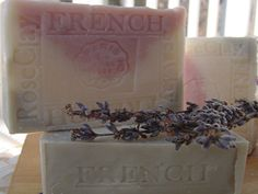 Natural Handcrafted Soap - Provence Lavender / Jasmine Grandiflorum with Sea and Rose Clay Face and Body Soap