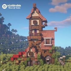 # HisIch # 😃 # ▶ # @ xgoldrobin # for # Building # & # 🏡 # ▶ is … – minecraft Casa Medieval Minecraft, Minecraft Castle, Minecraft Plans, Minecraft Funny, Mine Minecraft, Amazing Minecraft, Minecraft Houses Blueprints, Minecraft Tutorial, Cool Minecraft Houses