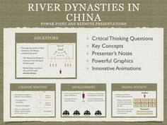 River Dynasties In China History Presentation Ancient World History, Chinese Writing, Critical Thinking, Keynote, Presentation, Animation, China, River, Animation Movies