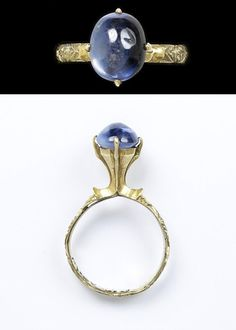 Ring with sapphire, made in England or France, c.1250-1300