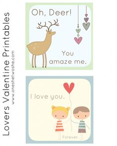 Free Valentine Printables for Lovers! - Or so she says...