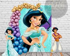 This item is unavailable Aladdin Birthday Party, Aladdin Party, Custom Vinyl Banners, Personalized Banners, Theme Mickey, Jasmine Party, Moroccan Party, Birthday Backdrop, Princess Jasmine