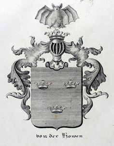 von der Howen (German / Dutch) - My personal favorite of all my family heraldic devices.  I love the bat on the crest of the helm.