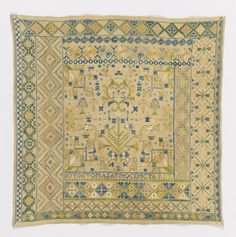 Sampler (Spain), early 19th century  silk embroidery on linen