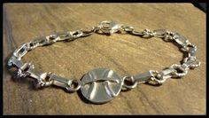Pisces Zodiac Bracelet, Thick Handmade Chain, Sterling Silver, SZ- 7.5    #Handmade #LargelinksBracelet