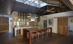 The Shearing Shed House, Echuca - Farm stays for Rent in Torrumbarry, Victoria, Australia Australian Sheds, Australian Homes, Shed Interior, Home Interior Design, Shed Plans, House Plans, Kit Homes Australia, Livable Sheds, Diy Shed Kits