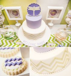 Dragonfly Inspired Baby Shower {Ombre Chevron Stripe}