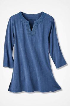Split-Neck Casbah Tunic - Coldwater Creek