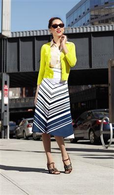 Love this 1930's Style Skirt- Crosswalk Skirt