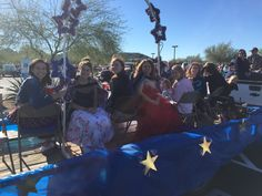 AZ Job's Daughters Bethel 19 heads out to Anthem for the Veterans Day Parade