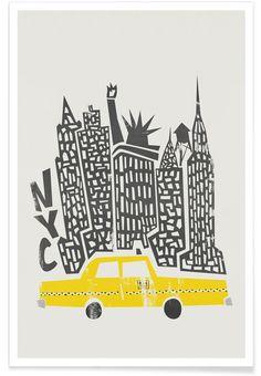 New York Cityscape par Fox & Velvet en Affiche premium | Achetez en ligne sur JUNIQE ✓ Livraison fiable ✓ Découvrez de nouveaux designs sur JUNIQE !