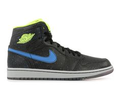 outlet store dc895 d1dad Genuine AIR JORDAN 1 RETRO HIGH BHM BLACK HISTORY MONTH black volt-photo  blue-white 579591 012 - Click Image to Close