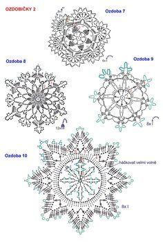 Crochet Snowflake Pattern, Crochet Motifs, Crochet Stars, Crochet Snowflakes, Crochet Circles, Crochet Stitches Patterns, Crochet Diagram, Doily Patterns, Thread Crochet