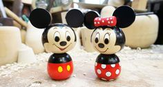 New Mickey Minnie Mouse x Usaburo Kokeshi Japanese Traditional Wooden Doll