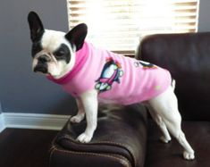 Pink Penguins Fleece Pull Over XS-L - fleece sweater - winter- jacket - all breed - animal print- french bulldog- Winter Sweaters, Christmas Sweaters, Fleece Sweater, Christmas Dog, Dog Shirt, Small Dogs, Best Dogs, Penguins, French Bulldog