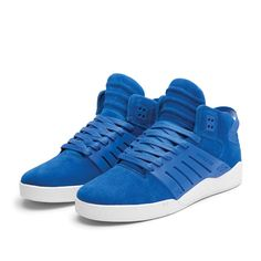 Supra · Shoes · Blue · Fashion · Skate · White · Skytop III · Trendy