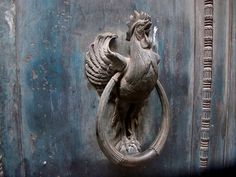 Rooster door knocker ~ for a farm house or barn!