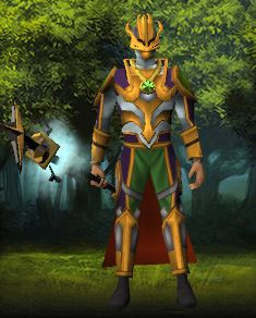 Last time, I mentioned how all the new updates turned my daily playing schedule topsy-turvy.  Jagex is still at it.  Now they've unleashed Super September.  I love comic books... love Runescape...  want the gold-tinted super-hero costume.  :^D
