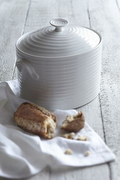 White Ceramic Bread Bin: £80.00 http://www.sophieconran.com/china/white-china-bread-bin