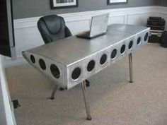 Office airplane wing desk
