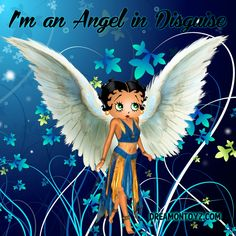 I'm an Angel in Disguise ~ More Betty Boop graphics & greetings:  http://bettybooppicturesarchive.blogspot.com/  ~And on Facebook~ http://facebook.com/bettybooppictures ~ Angel Betty Boop