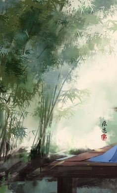 Follow DiNhien63 (st) Chinese Artwork, Chinese Painting, Nature Paintings, Landscape Paintings, Lotus Flower Wallpaper, Forest Mural, Art Asiatique, Art Background, Retro Art