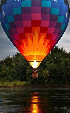 Water Scrapping Hot Air Balloon
