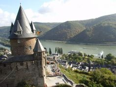 Castle Bacharach, Youth hostel at the river rhine