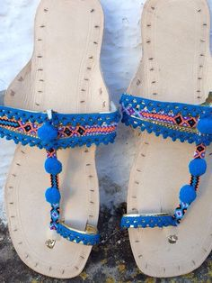 2f883939c Boho Indian leather sandals from Ibiza by AUROBELLE on Etsy Natural  Leather