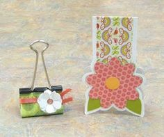 Cute binder clip and bookmark!  Teacher appreciation gifts, more on her blog!