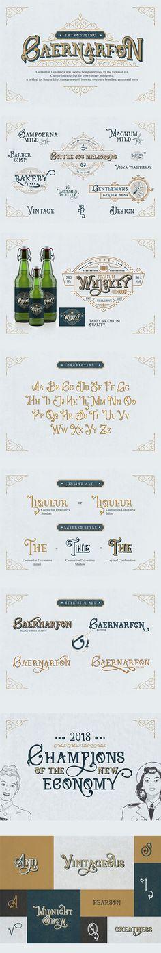 Caernarfon - Decorative Fonts