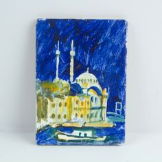 The Oil Painting Magnet Of istanbul / handmade by cosanon Mosque, Magnets, Unique Jewelry, Handmade Gifts, Oil, Painting, Istanbul, Etsy, Vintage