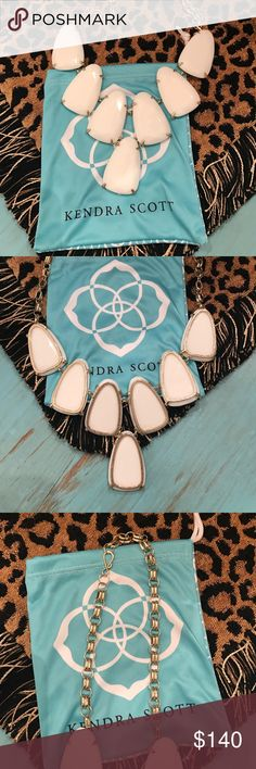 Kendra Scott Harlow Necklace Barely worn white Kendra Scott necklace. This necklace is in excellent condition! Kendra Scott Jewelry Necklaces