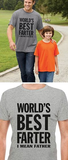 World's Best Farter Tshirt | Inexpensive Fathers Day Gifts on a Budget | Fathers Day Gifts for Grandpa