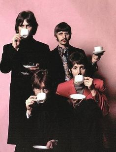 THE BEATLES... tea anyone? Eating well? Yes, tea is good for you.  Take it from the fab four, have a cuppa every day.